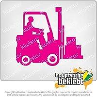 フォークリフトのトラック Forklift trucks 11,5cm x 10cm 15色 - ネオン+クロム! ステッカービニールオートバイ