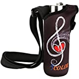 ICOLOR 500ML Water Bottle Carrier, Neoprene Water Bottle Holder with Adjustable Shoulder Strap, Sling insulated Sports Water Bottle Bag Case Pouch Cover Fits Bottles with the diameter of 2.75 inches or less