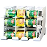 FIFO Can Tracker- Food Storage Canned Foods Organizer/Rotater/Dispenser: Kitchen Cupboard Cabinet Pantry- Rotate Up To 54 Can
