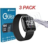 Tersely Screen Protector for Fitbit Versa / Versa Lite, (3 Pack) Fitbit Versa 9H Hardness Tempered Glass Screen Protector Film Guard for Fitbit Versa / Versa Lite watch (3 Pack)
