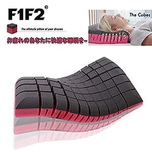 F1F2 The cubes 無重力枕 安眠人気枕 快眠枕 枕両面使用性 新仕様肩こり首こり防止頚椎サポート健康枕通気性抜群いびき軽減 横向き 仰向け快適37x59x10cm