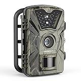 トレイルカメラ DinDinCam 500万画素 HD1080P CMOSセンサ 防犯 監視 動体検知 IP66防水 暗視可能 電池式 家庭 屋外 野生動物調査用 日本語説明書