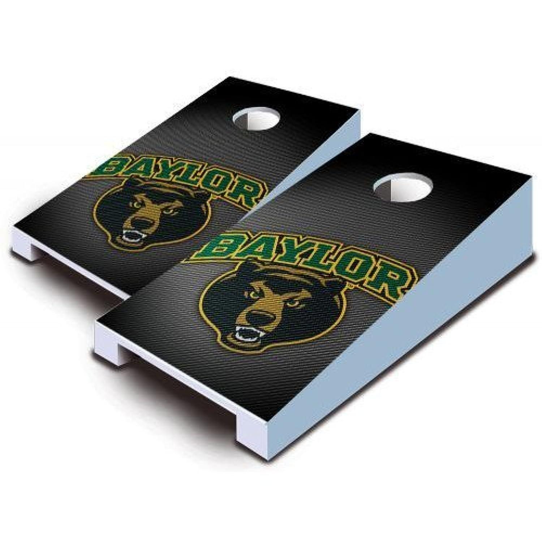 Baylor Bears Tabletop CornholeボードBeanバッグTailgate Toss Game Slanted Logo Miniミニチュア