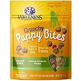 Wellness Natural Pet Food Grain-Free Crunchy Puppy Bites Chicken & Carrots Recipe Dog Treats, 6 Ounce Bag (89016)