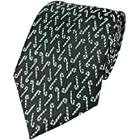 Mens Candy Print Pattern Holiday Christmas Neckties Tie Woven Neck Tie