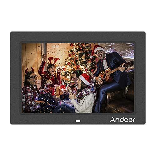 Andoer デジタルフォトフレーム 10インチ 1200 * 800高解像度 IPS LED液晶 写真/動画/音楽自動再生 目覚まし時計 カレンダー アラーム 多機能フォトフレーム 良いギフト