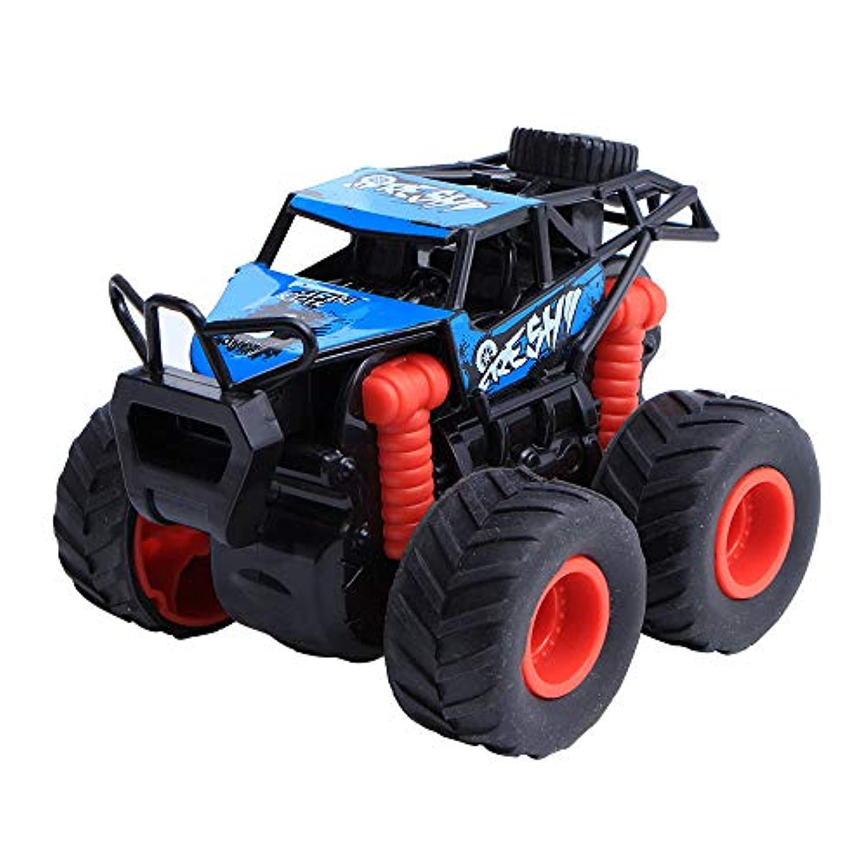Wffo ミニ 車 プルバック 車 大きなタイヤホイール付き クリエイティブなギフト 子供用 ブルー Wffo - toy