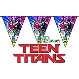 Crafting Mania LLC。。10 Teen Titans特別な三角形の誕生日バナー