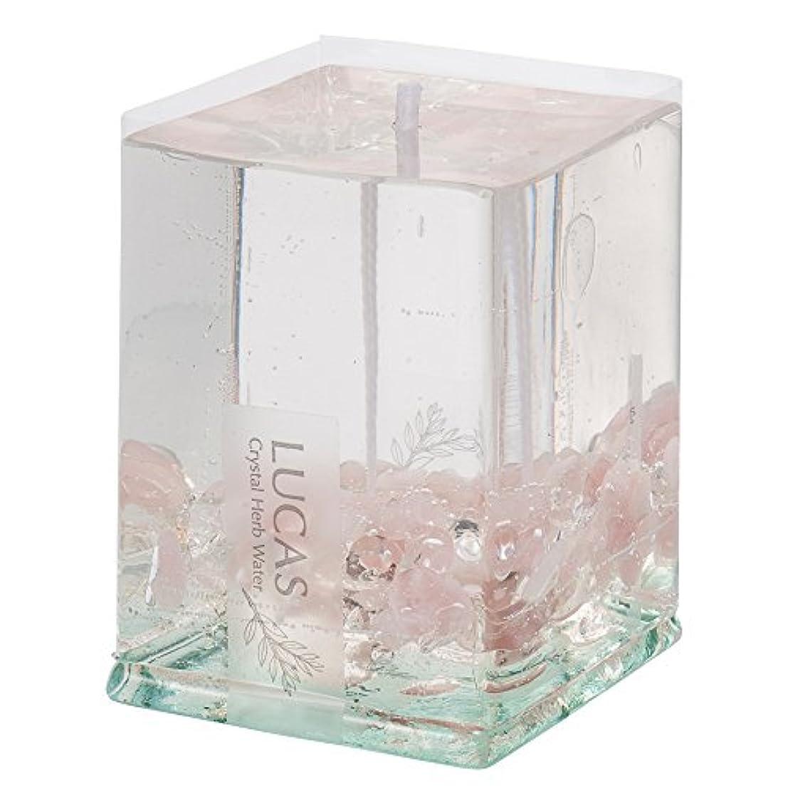 種をまくフィットネス型ホワイトセージ浄化キャンドル LUCAS - ルカス - ローズクォーツ (ローズ&セージの香り)【瞑想?マインドフルネスに】