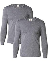 (ラパサ)Lapasa あったかインナー 防寒肌着 薄手・中厚 長袖シャツ 保温インナー 冬用起毛 肌着 M09M55