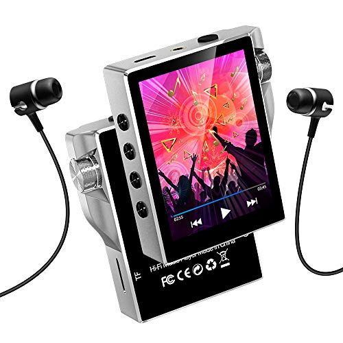 16GB HIFIロスレス音質 Gueray デジタルオーディオプレーヤ Micro SDカード対応 Bluetooth対応 多機能 時計 FMラジオ 電子ブック 録音 合金製 日本語説明書付き シルバー