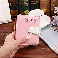 女性かわいいドットの写真の財布 (ピンク)
