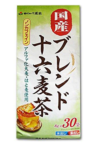 がんこ茶家 国産ブレンド十六麦茶 8g×30