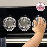 ガス スイッチカバー 4個入 ファンヒーター ベビーガード ベビー 子供の安全用 3Mテープ 剥がれにく 丸型 セーフティグッズ スイッチガード 電源ガード いたずら防止 透明