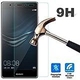 Huawei P9lite 強化ガラスフィルム【Qoosea】Huawei P9 Lite液晶保護フィルム 硬度9H 指紋防止 飛散防止 超薄0.3mm 2.5D ラウンドエッジ加工(Huawei P9lite, 強化ガラスフィルム)