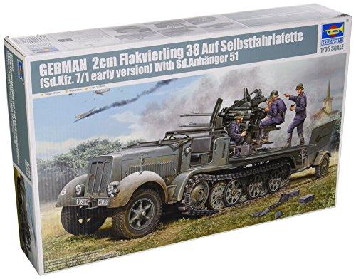 1/35 ドイツ軍 8tハーフトラック フライクーゲル 1/35 GERMAN 2cm Flakvierling 38 Auf Selbstfahrlafette