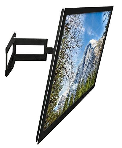 mount-it 。フルモーションテレビ壁マウントブラケットforフラット画面323940424345484950556065インチ4K LCD LEDプラズマOLEDテレビ、VESA 600x 400mm、110ポンド容量、ブラック( mi-346l )
