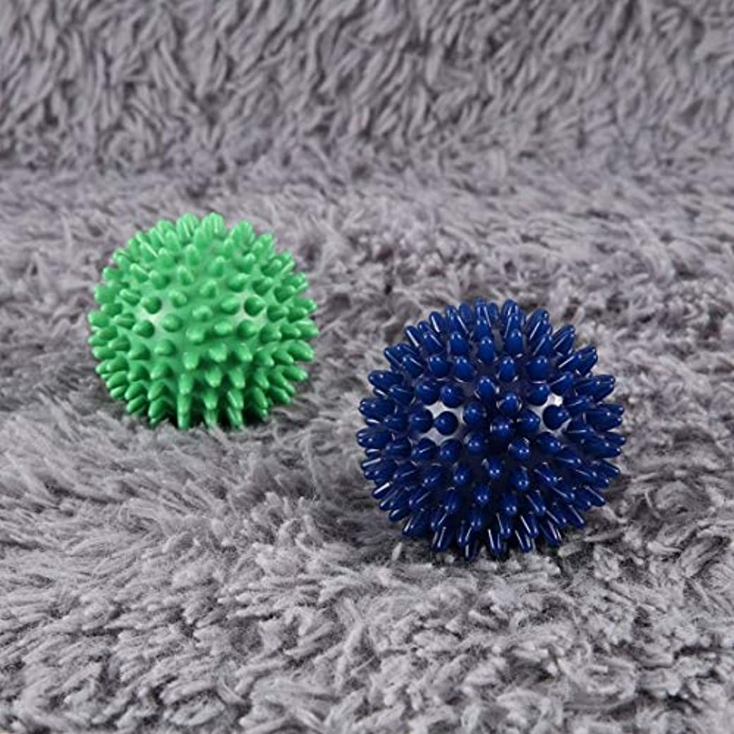 陰謀連帯信頼PVC High Density Spiky Massage Ball Foot Pain & Plantar Fasciitis Reliever Treatment Hedgehog Ball Massage Acupressure...