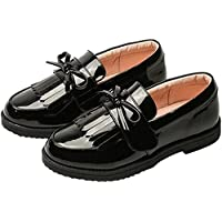 PPXID Girl's British Style School Uniform Shoes Princess Performance Oxford Shoes