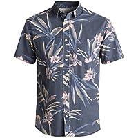 QUIKSILVER Mens EQYWT03608 Longa Locka Ss Button Down Shirt Short Sleeve Button Down Shirt