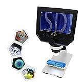 Inlight デジタル顕微鏡 4.3インチHD LED 1080Pビデオモード 3.6MP 1-600倍連続倍率 肌チェック/生物観察/細かい部品チェックに ミク..