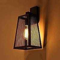 Firsthgus ウォールライトアメリカンガラスウォールランプ屋外防水壁取り付け用燭台LED錬鉄製ウォールランプカフェレストランホテルレトロ装飾ランプ