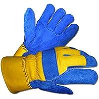 2ペアB & Gメンズサーモ断熱防水裏地分割牛革レザー作業冬手袋、サイズXL