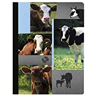 Tree-Free Greetings Cow Collage Soft Cover 140 Page Recomposition College Ruled Notebook 9.75 x 7.25 Inches (CJ47135) [並行輸入品]