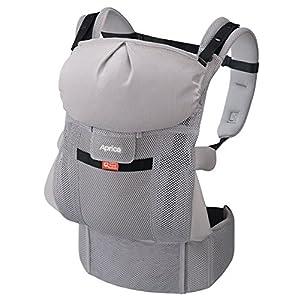 Aprica (アップリカ) 抱っこひも コラン CTS スマートグレーGR 首すわりからすぐ使える3WAYタイプ 【疲れにくい腰ベルト & サポートハーネス付】 39554