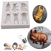 BEE&BLUEシリコン モールド 犬 猫 動物 DIY チョコレート型 クッキー型 手作り 石鹸 抜き型 製菓 ペストリーモールド ケーキデコレーションツール