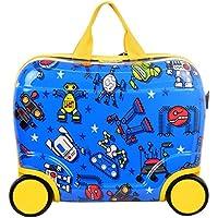 Star Ride Along Wheelie Case Childrens Boys Girls Luggage Travel Bag