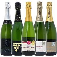 △本格シャンパン製法の泡5本セット((W0P508SE))(750mlx5本ワインセット)