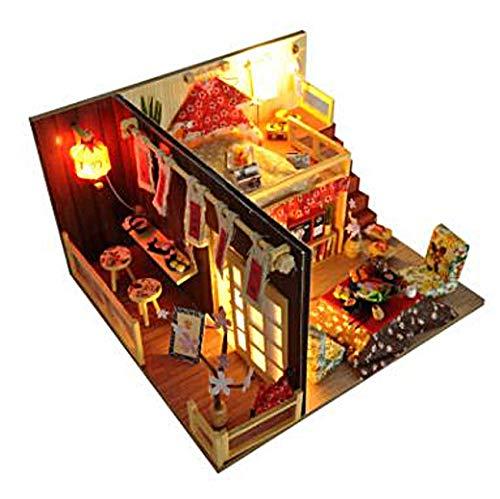 [リトルスワロー] ミニチュア ドールハウス DIY 手作り 工作 模型 キット LED 付き メルヘン シリーズ お洒...
