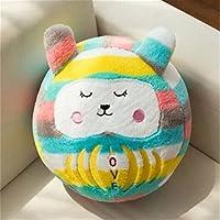 Keaner新生児幼児Roly - Poly ToysスモールサイズPear Wavyストライプ漫画人形タンブラーボール枕(レッドグレーRabbit )