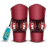脚マッサージャー電気加熱膝パッド関節振動マッサージ理学療法器具3スピード温度制御9つのギアは膝の痛みを和らげることができます #-