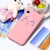 IPhone XR用チェシャ猫パターンシリコン保護ケース L&Y (色 : ピンク)