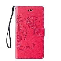 """ベリーアクセサリー( TM ) 3dファッション財布PUレザーwith Beauty印刷花バタフライ[カードホルダー]フリップカバーwith Hand Strap for iPhone 6Plus / 6s Plus 5.5"""" Samsung Galaxy J7 2016/J710"""