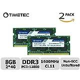 Timetec Hynix IC 8GB キット (2x4GB) ノートPC用メモリ DDR3L 1600 MHz PC3L 12800 204 Pin SODIMM Laptop memory upgrade 永久保証 (低密度 8 GB (2x4GB))