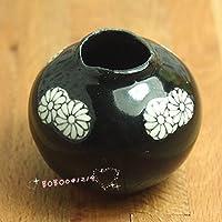 bobominiworld A磁器花瓶ドールハウスミニチュア装飾1 : 12スケール横幅3.5 CMブラック