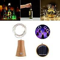 クリスマスパーティーのためのソーラー8LEDsコルクShapedWireボトル妖精の文字列ライト