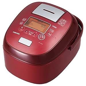 東芝 真空IHジャー炊飯器(5.5合炊き) グランレッドTOSHIBA 真空かまど炊き(真空IH保温釜) RC-10VRJ-R