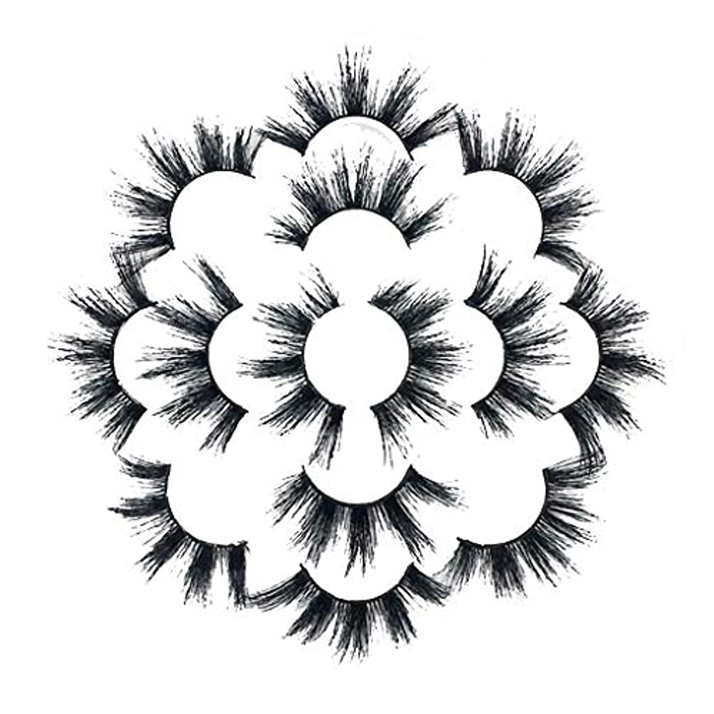 浸透する子孫最も遠い7ペアラグジュアリー8D Falseまつげふわふわストリップまつげロングナチュラルパーティー