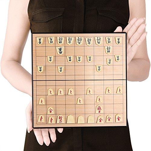 KUUQA 将棋セット 将棋 マグネット こども 知育 オモチャ 折りたたみ 基盤 駒 プラスチック コンパクト 収納 ボードゲーム 25*25*2