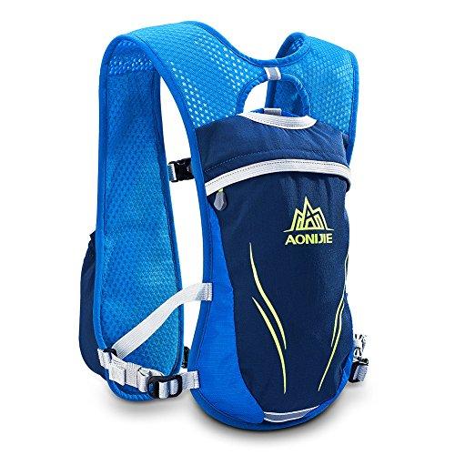 AONIJIE ハイドレーションバッグ ランニングバッグ サイクリングバッグ 軽量 自転車バックパック リュック 6L (blue)