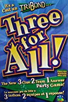 R.P.T. Tri Bond THREE FOR ALL 3. Clue 2. Team 1. Answer PARTY GAME - English Version (Patch, R.P. Toys CANADA)
