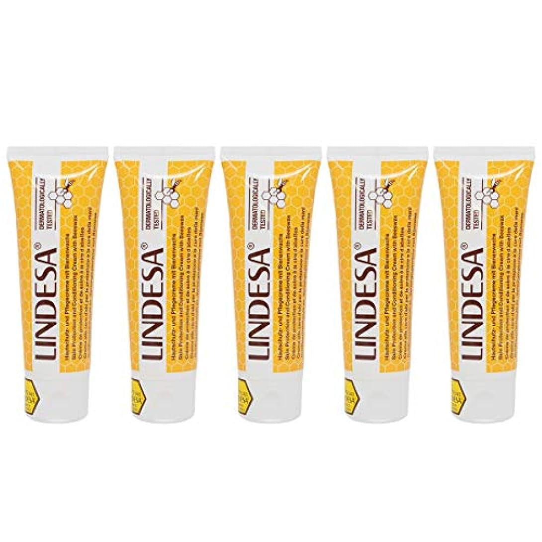 何故なの気配りのある基礎LINDESA リンデザ ハンド&スキンケアクリーム 75ml 日本国内正規品 5本セット
