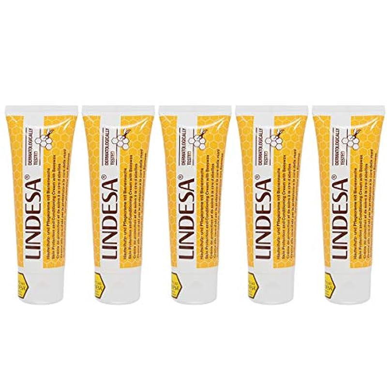 効率消費者砂漠LINDESA リンデザ ハンド&スキンケアクリーム 75ml 日本国内正規品 5本セット