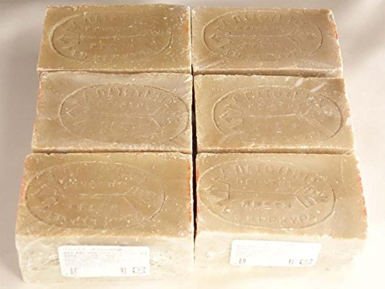 ナイロン運河平等パトーニス?ギリシャの石鹸 グリーン6ヶセット