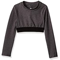Soffe Girls' Big Grace Long Sleeve Crop Top