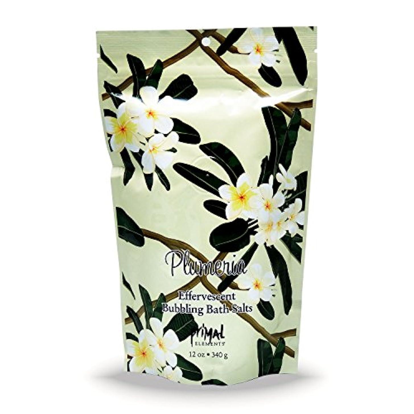 プライモールエレメンツ バブリング バスソルト/プルメリア 340g エプソムソルト含有 アロマの香りがひろがる泡立つ入浴剤